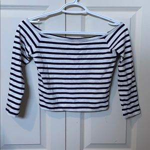 Stripped crop Holister shirt